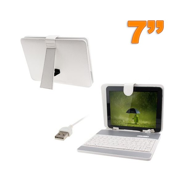 housse-clavier-universelle-tablette-tactile-7-pouces-usb-blanc
