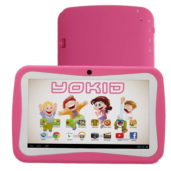 tablette tactile enfant yokid-quad-core-7-pouces android 51-rose-8go