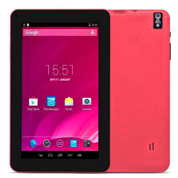 Tablette tactile 9 pouces Android 4.4 Bluetooth Quad Core 8Go Rose