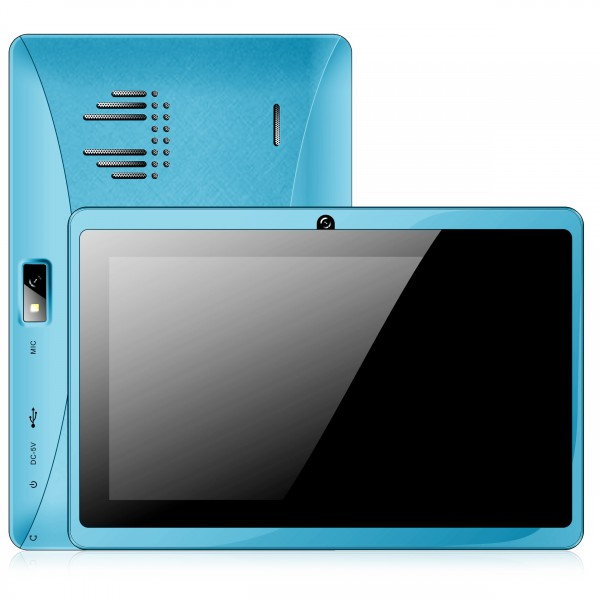 tablette tactile 7 pouces bluetooth Quad Core Android 4.4 KitKat 4Go Bleu